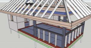 каркасные бани схема строительства