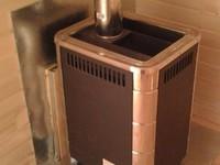 Баня из бытовки печь