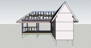 Каркасные бани двухэтажная схема