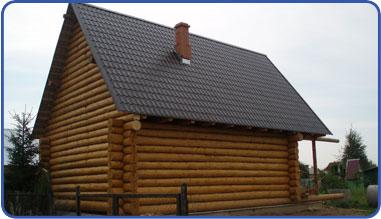 Баня из бруса двускатная крыша