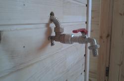 подача воды Баня из бытовки