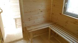 скамейки в Баня из бытовки